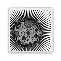 Fractal Background Black Manga Rays Memory Card Reader (square)