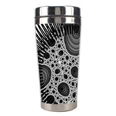 Fractal Background Black Manga Rays Stainless Steel Travel Tumblers