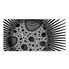 Fractal Background Black Manga Rays Satin Shawl
