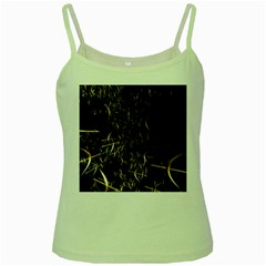 Golden Bows And Arrows On Black Green Spaghetti Tank