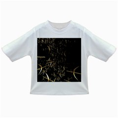 Golden Bows And Arrows On Black Infant/Toddler T-Shirts