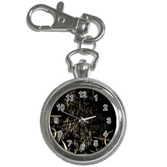 Golden Bows And Arrows On Black Key Chain Watches