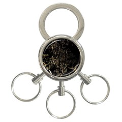 Golden Bows And Arrows On Black 3 Ring Key Chains
