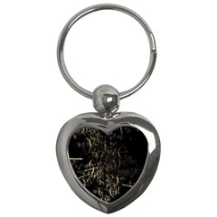 Golden Bows And Arrows On Black Key Chains (heart)