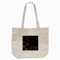 Golden Bows And Arrows On Black Tote Bag (cream)