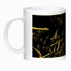 Golden Bows And Arrows On Black Night Luminous Mugs