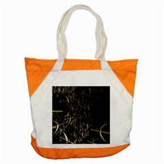 Golden Bows And Arrows On Black Accent Tote Bag