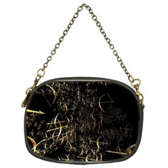 Golden Bows And Arrows On Black Chain Purses (one Side)