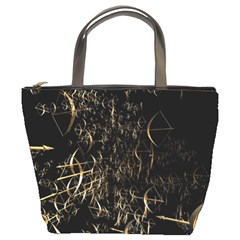 Golden Bows And Arrows On Black Bucket Bags