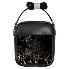 Golden Bows And Arrows On Black Girls Sling Bags