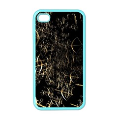 Golden Bows And Arrows On Black Apple iPhone 4 Case (Color)