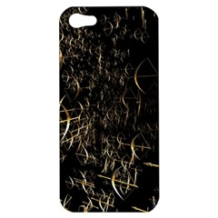 Golden Bows And Arrows On Black Apple Iphone 5 Hardshell Case