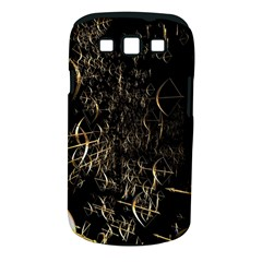Golden Bows And Arrows On Black Samsung Galaxy S III Classic Hardshell Case (PC+Silicone)