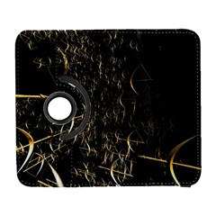 Golden Bows And Arrows On Black Galaxy S3 (Flip/Folio)