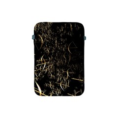 Golden Bows And Arrows On Black Apple iPad Mini Protective Soft Cases