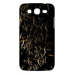 Golden Bows And Arrows On Black Samsung Galaxy Mega 5.8 I9152 Hardshell Case