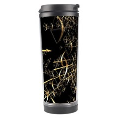 Golden Bows And Arrows On Black Travel Tumbler
