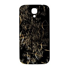 Golden Bows And Arrows On Black Samsung Galaxy S4 I9500/I9505  Hardshell Back Case