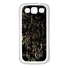 Golden Bows And Arrows On Black Samsung Galaxy S3 Back Case (White)