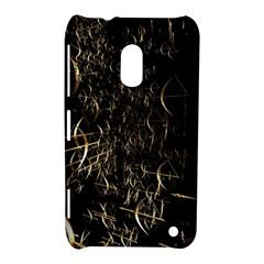 Golden Bows And Arrows On Black Nokia Lumia 620
