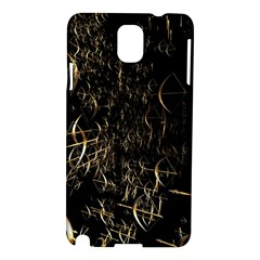 Golden Bows And Arrows On Black Samsung Galaxy Note 3 N9005 Hardshell Case