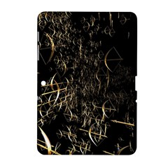 Golden Bows And Arrows On Black Samsung Galaxy Tab 2 (10.1 ) P5100 Hardshell Case
