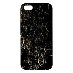 Golden Bows And Arrows On Black iPhone 5S/ SE Premium Hardshell Case