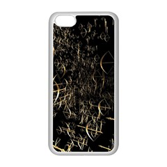 Golden Bows And Arrows On Black Apple iPhone 5C Seamless Case (White)