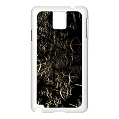 Golden Bows And Arrows On Black Samsung Galaxy Note 3 N9005 Case (White)