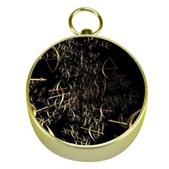 Golden Bows And Arrows On Black Gold Compasses