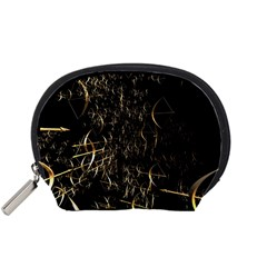 Golden Bows And Arrows On Black Accessory Pouches (Small)