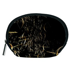 Golden Bows And Arrows On Black Accessory Pouches (Medium)
