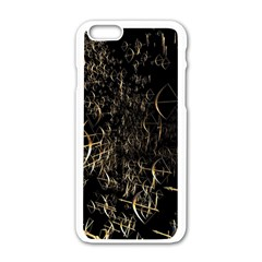 Golden Bows And Arrows On Black Apple Iphone 6/6s White Enamel Case