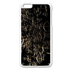 Golden Bows And Arrows On Black Apple Iphone 6 Plus/6s Plus Enamel White Case
