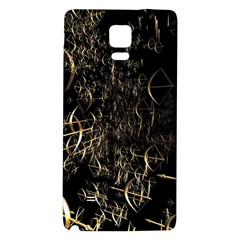 Golden Bows And Arrows On Black Galaxy Note 4 Back Case