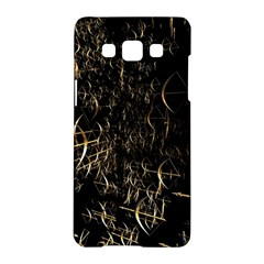 Golden Bows And Arrows On Black Samsung Galaxy A5 Hardshell Case
