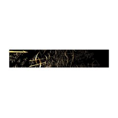 Golden Bows And Arrows On Black Flano Scarf (mini)