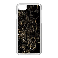 Golden Bows And Arrows On Black Apple Iphone 7 Seamless Case (white)