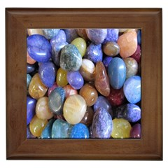 Rock Tumbler Used To Polish A Collection Of Small Colorful Pebbles Framed Tiles