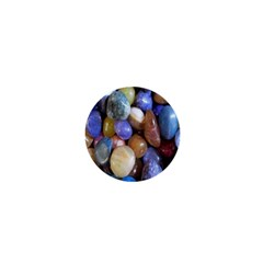 Rock Tumbler Used To Polish A Collection Of Small Colorful Pebbles 1  Mini Magnets