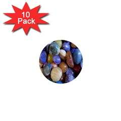 Rock Tumbler Used To Polish A Collection Of Small Colorful Pebbles 1  Mini Buttons (10 Pack)