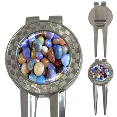 Rock Tumbler Used To Polish A Collection Of Small Colorful Pebbles 3-in-1 Golf Divots