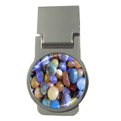 Rock Tumbler Used To Polish A Collection Of Small Colorful Pebbles Money Clips (round)