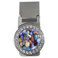 Rock Tumbler Used To Polish A Collection Of Small Colorful Pebbles Money Clips (cz)