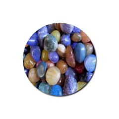 Rock Tumbler Used To Polish A Collection Of Small Colorful Pebbles Rubber Round Coaster (4 Pack)