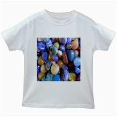 Rock Tumbler Used To Polish A Collection Of Small Colorful Pebbles Kids White T-Shirts