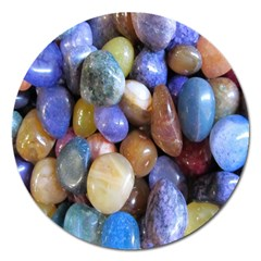 Rock Tumbler Used To Polish A Collection Of Small Colorful Pebbles Magnet 5  (Round)