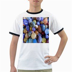 Rock Tumbler Used To Polish A Collection Of Small Colorful Pebbles Ringer T-Shirts
