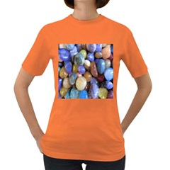 Rock Tumbler Used To Polish A Collection Of Small Colorful Pebbles Women s Dark T-Shirt