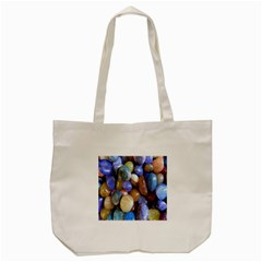 Rock Tumbler Used To Polish A Collection Of Small Colorful Pebbles Tote Bag (Cream)